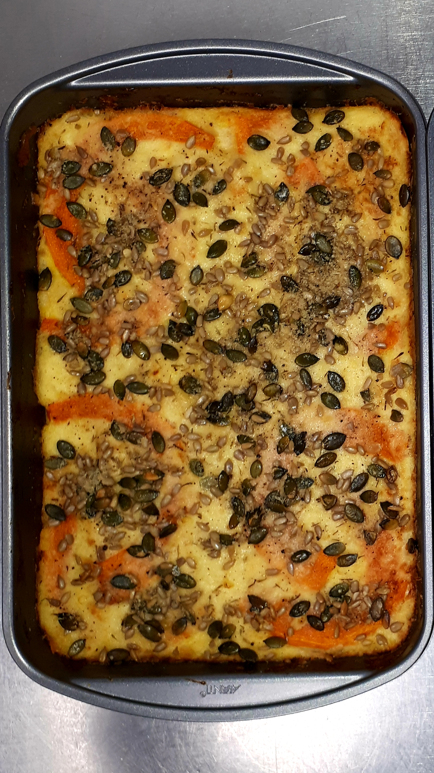 Lasagna Tray: The Star, Pumpkin and Blue Cheese